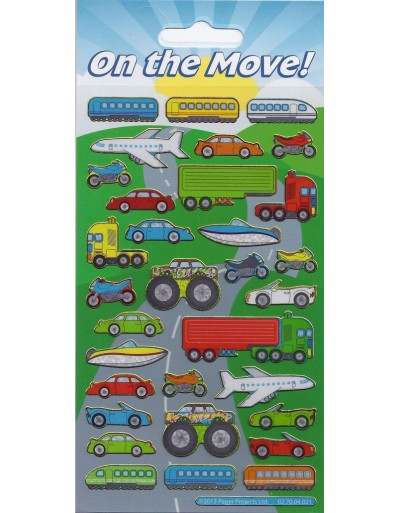 On the Move Sparkle Stickers