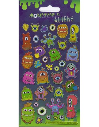 Monsters & Aliens Sparkle Stickers