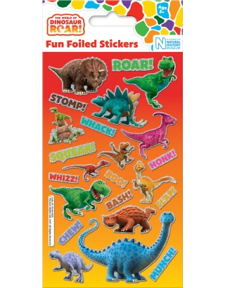 Dinosaur Roar! Foiled Sticker Pack