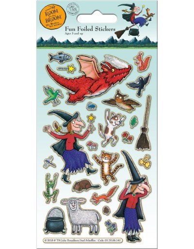 Room on the Broom Foiled Sticker Pack