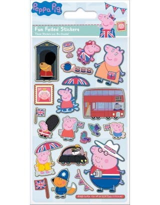 Peppa Pig Glorious Britain Foiled Sticker Pack