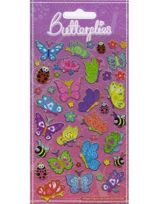Happy Butterflies Sparkle Stickers