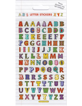 Colourful Letters Sparkle Stickers