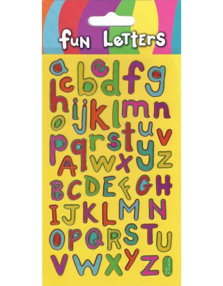 Fun Letters Sparkle Stickers