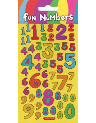 Fun Numbers Sparkle Stickers