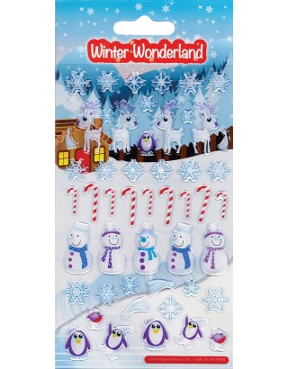 Winter Wonderland Kids Craft Stickers