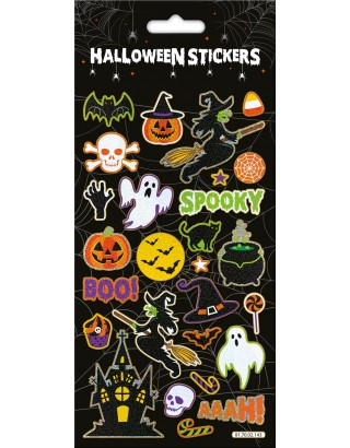 Halloween Spooky Large Foiled Stickers