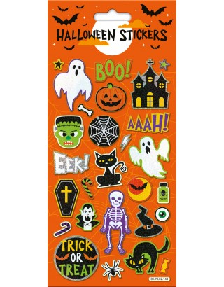 Halloween Boo Large Foiled Stickers