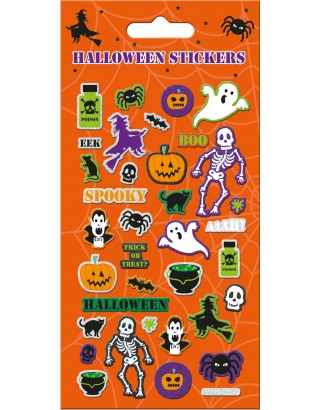 Halloween Orange Foiled Stickers