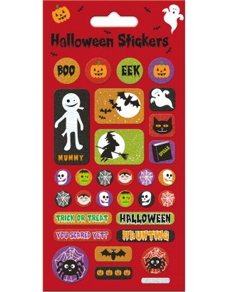 Halloween Red Foiled Stickers