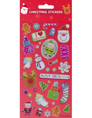 Christmas Fun Large Foiled Sticker Pack