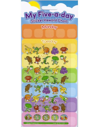 Five a Day Large Reward Sticker Set