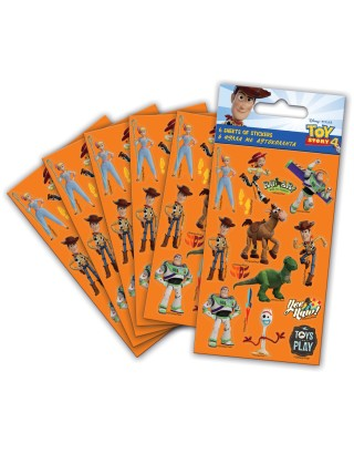 Toy Story 4 Party Sticker Pack - 6 sheets