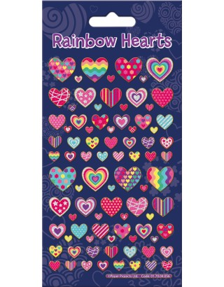 Rainbows Hearts Sparkle Stickers