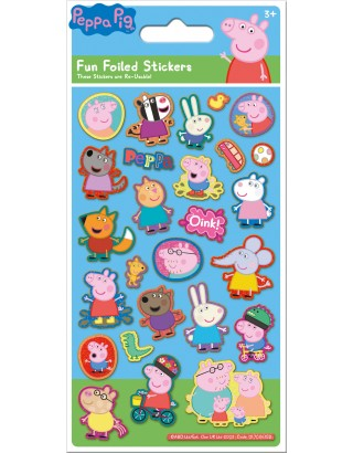 Peppa Pig Blue Foiled Sticker Pack