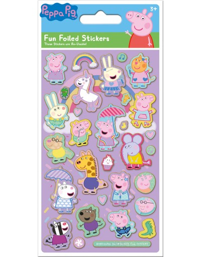 Peppa Pig Pink Foiled Sticker Pack