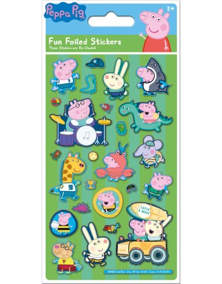 George Pig Green Foiled Sticker Pack