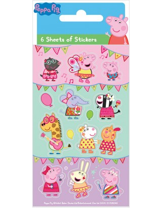 Peppa Pig Carnival Party Sticker Pack - 6 sheets