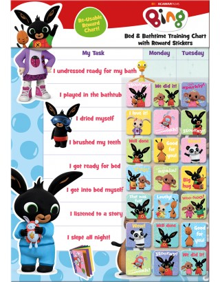 Bing Bath and Bedtime Training Reward Chart
