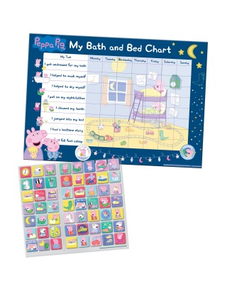 Peppa Pig Bath and Bedtime Training Reward Chart