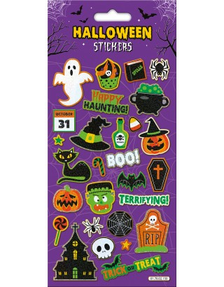 Happy Haunting Large Foiled Sticker Pack
