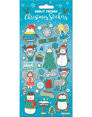 Snowy Friends Large Foiled Sticker Pack