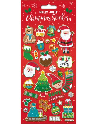 Holly Jolly Large Foiled Sticker Pack