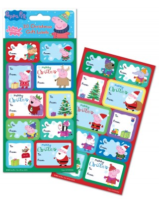 Peppa Pig Christmas Gift Labels