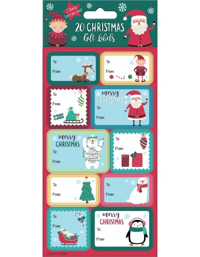 North Pole Christmas Gift Labels
