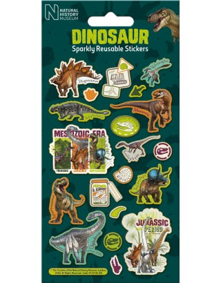 NHM Dinosaur Foiled Sticker Pack