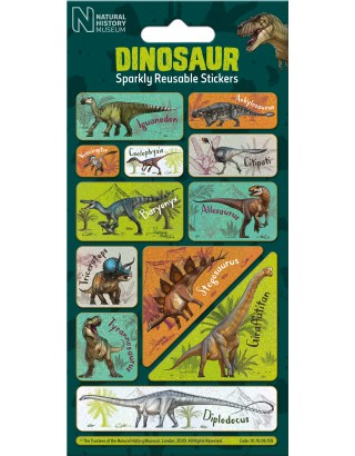 NHM Dinosaur Captions Foiled Sticker Pack