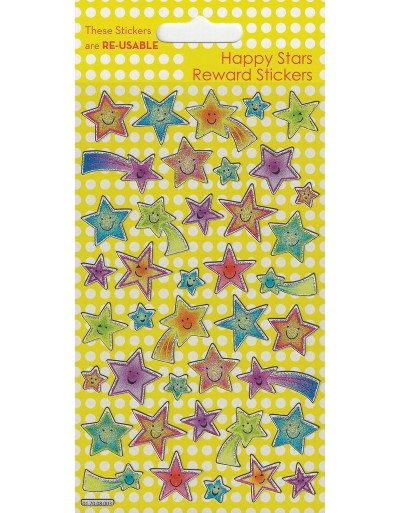 Happy Stars Sparkle Reward Stickers