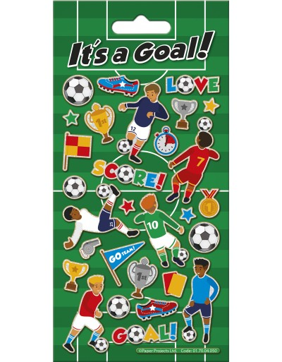 Its a Goal! Sparkle Stickers