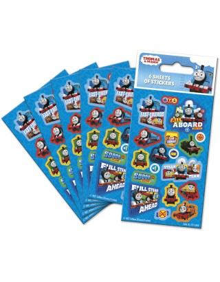 Thomas and Friends Party Sticker Pack - 6 sheets
