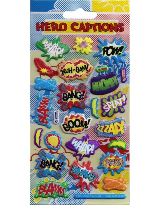Hero Captions Kidscraft Stickers