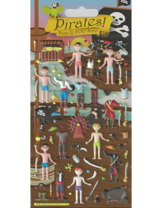Foam Pirates Dress Up Kidscraft Stickers