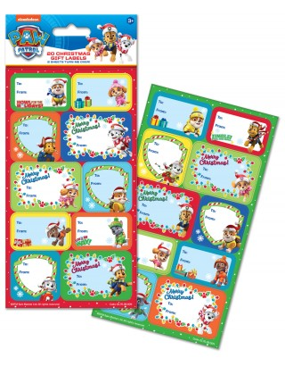 Paw Patrol Christmas Gift Labels