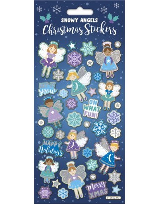 Snowy Angels Large Foiled Sticker Pack