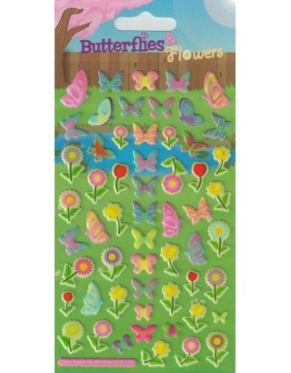 Puffy Butterflies Kids Craft Stickers
