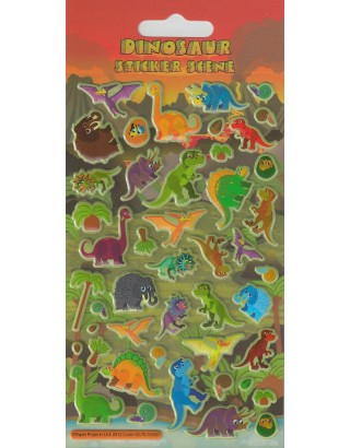 Puffy Dinosaurs Kids Craft Stickers