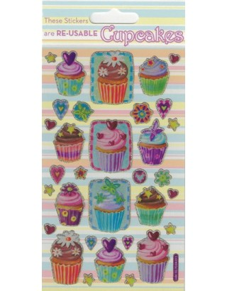 Cupcakes Sparkle Stickers