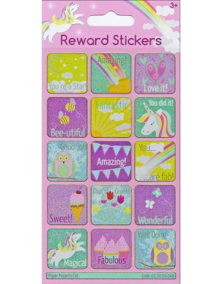 Girls Reward Sparkle Stickers