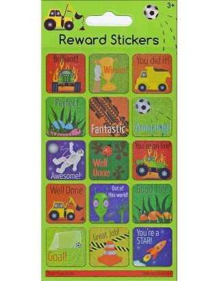 Boys Reward Sparkle Stickers