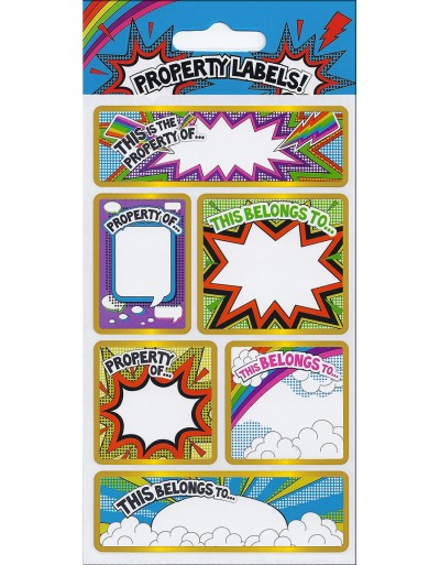 Property Labels Sparkle Stickers