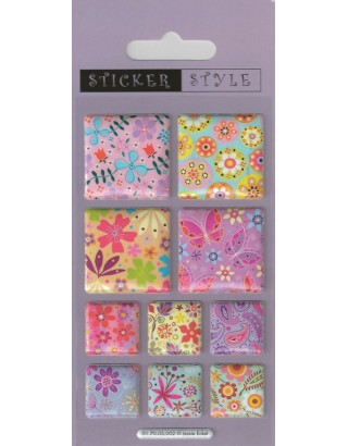 Flower Panels Craft Stickers