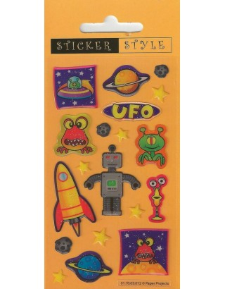Outer Space Craft Stickers