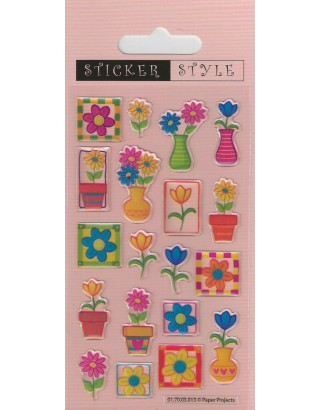 Pretty Petals Craft Stickers