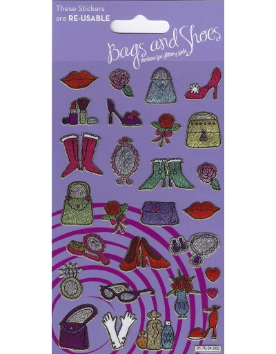 Bags and Shoes Sparkle Stickers