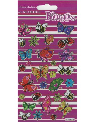 Butterflies Sparkle Stickers
