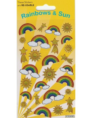 Rainbows Sparkle Stickers